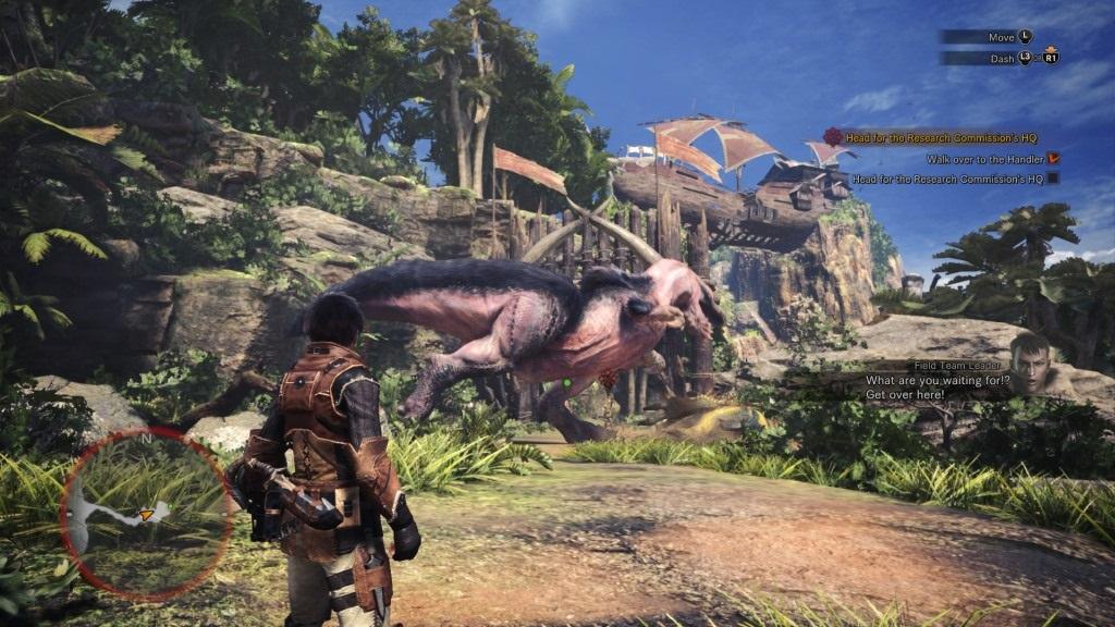 Monster Hunter: World; Gameplay: Anjanath