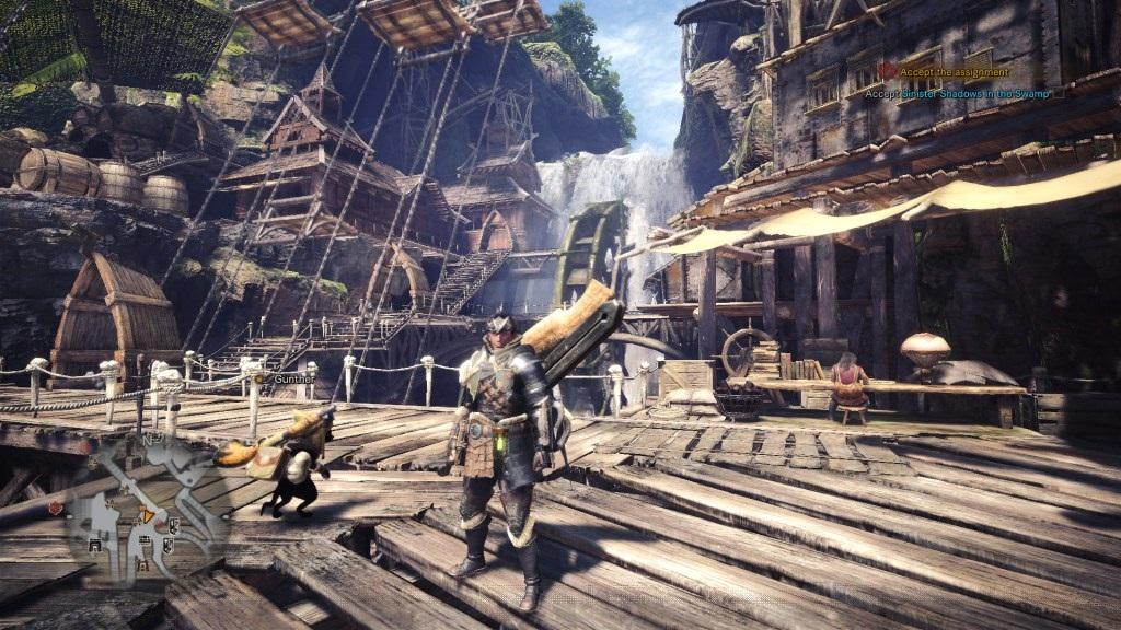 Nejlepší hry; Monster Hunter: World; Gameplay: město Astera