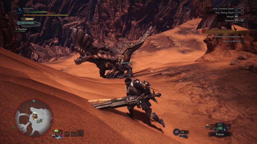 Nejlepší hry; Monster Hunter: World; Gameplay: Barroth