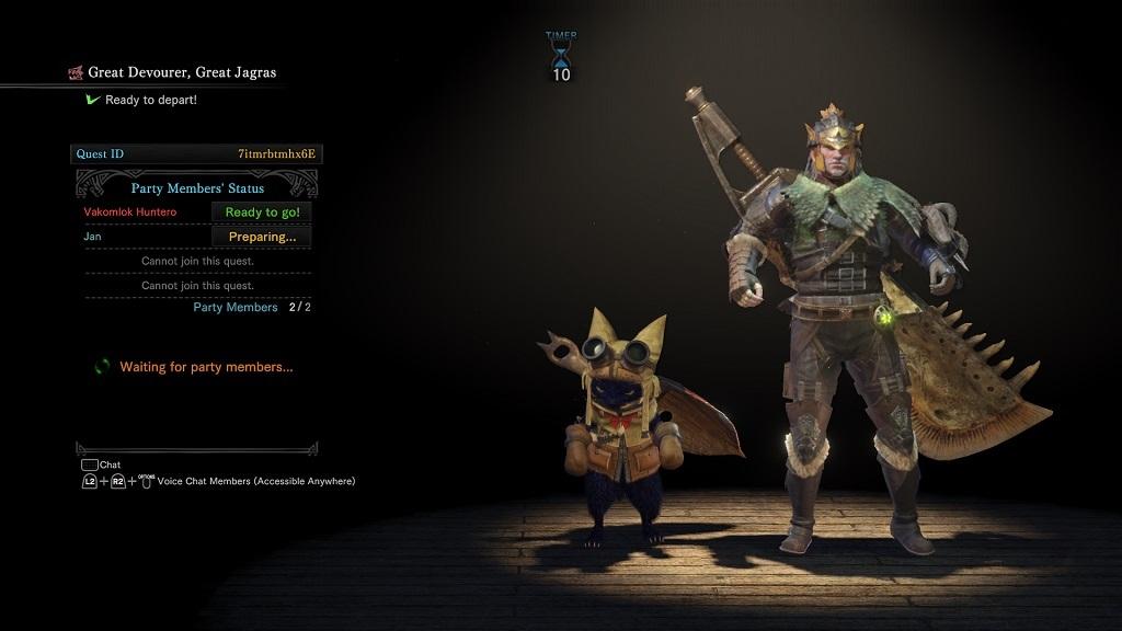 Monster Hunter: World; matchmaking