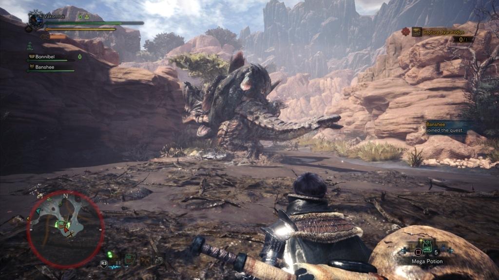 Monster Hunter: World; Gameplay: bitva monster