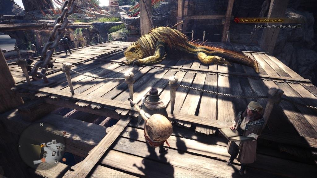 Monster Hunter: World; Gameplay: chycený jagras