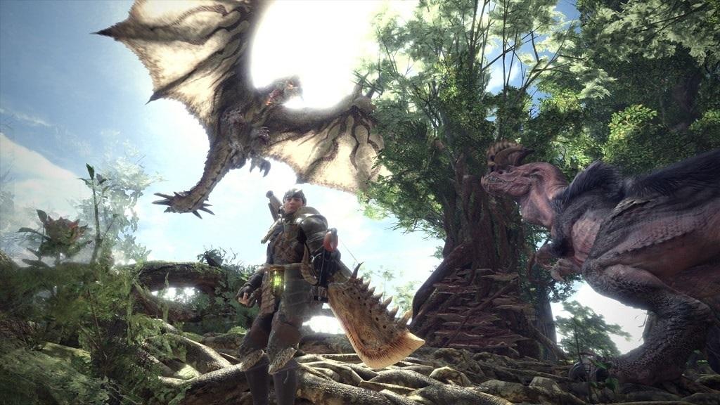 Monster Hunter: World; hunter, dinosauři