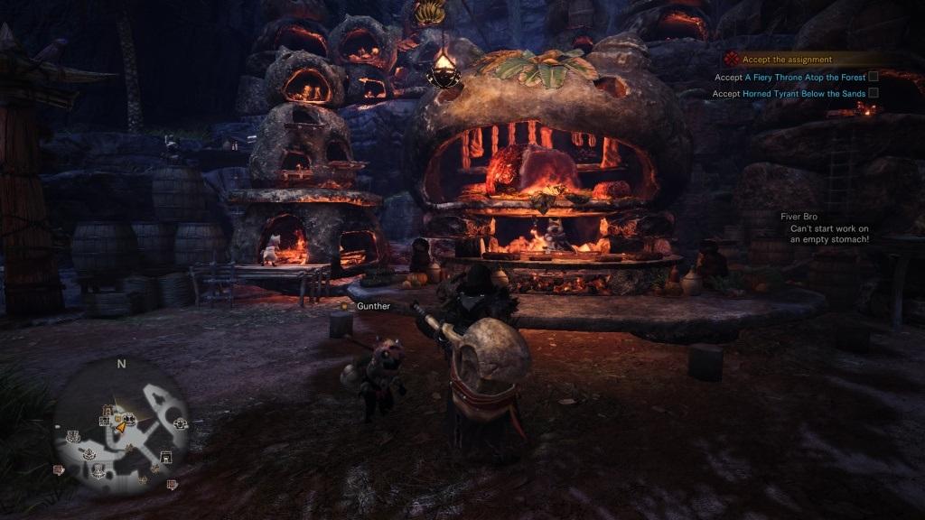 Monster Hunter: World; Gameplay: kantýna