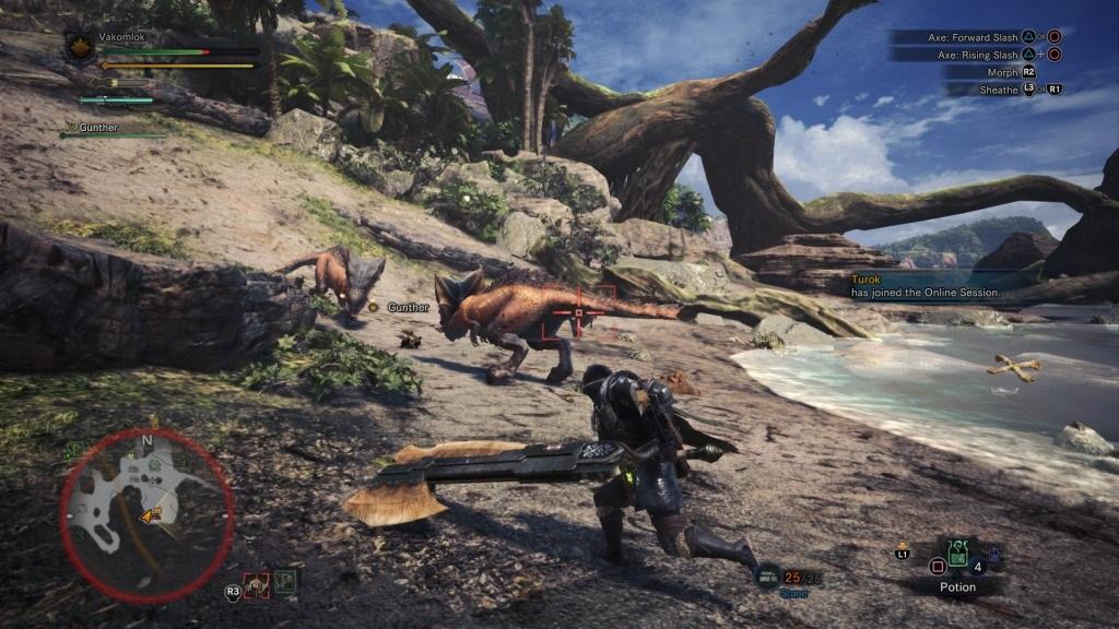 Monster Hunter: World; Gameplay: kestodon, zbraň