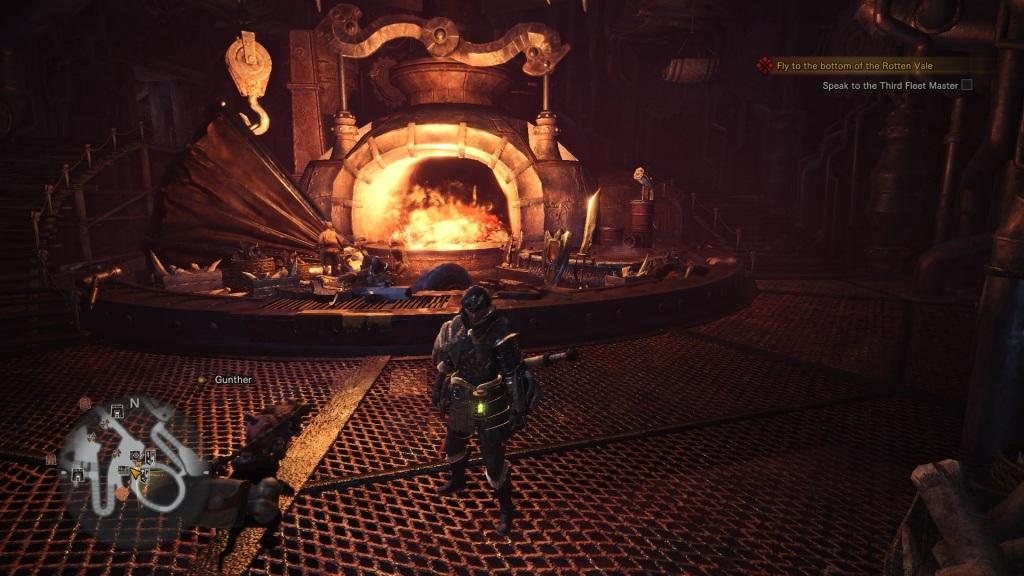 Monster Hunter: World; Gameplay: kovárna
