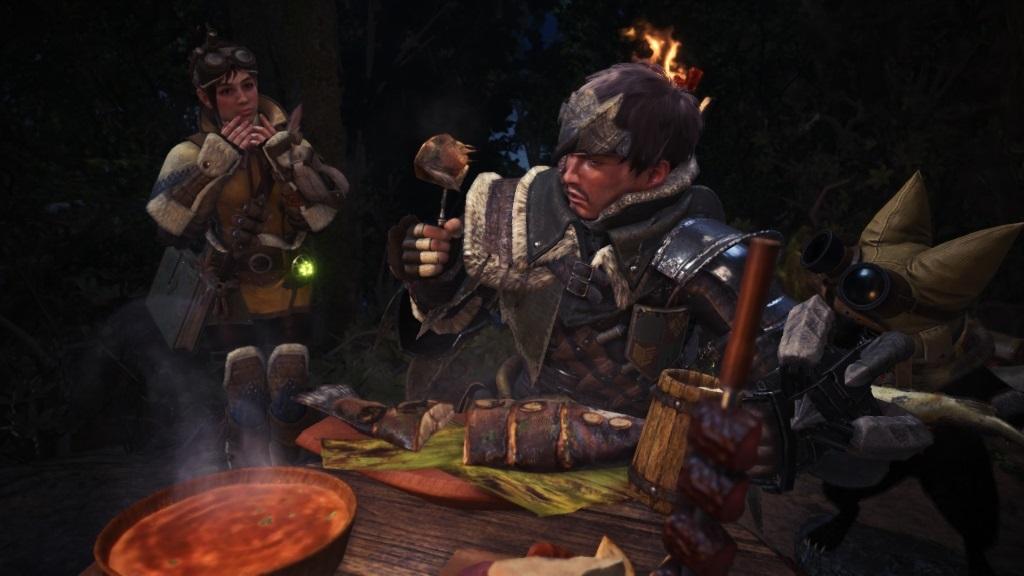 Monster Hunter: World; Gameplay: jídlo