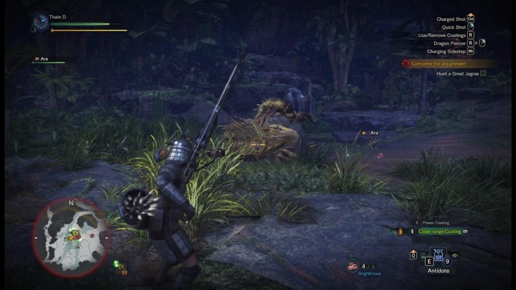 Monster Hunter: World; screenshot: menší oponent