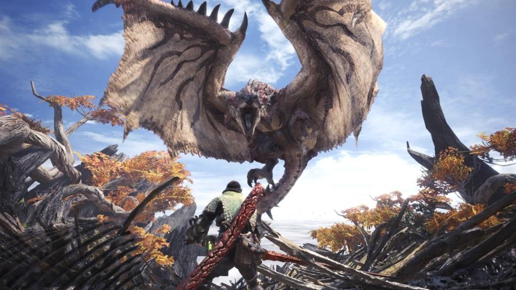 Monster Hunter: World; Wallpaper: souboj, monstrum