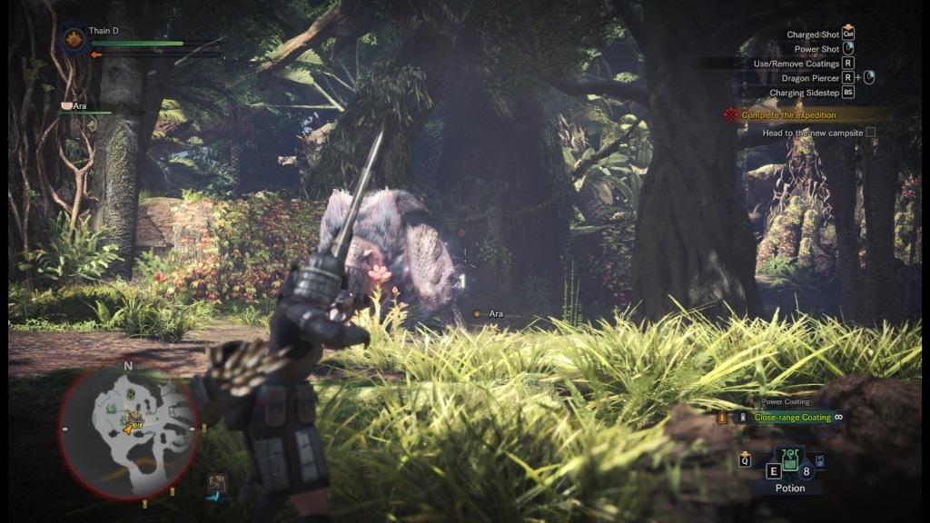 Monster Hunter: World; screenshot: naštvaný obr