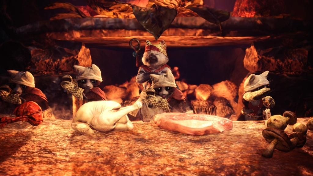 Monster Hunter: World; Gameplay: příprava jídla