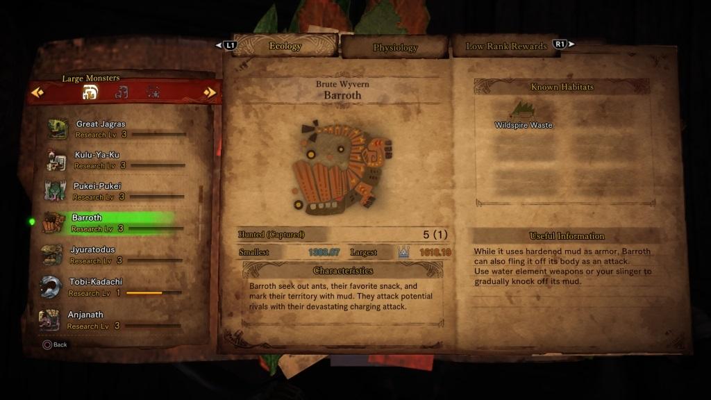 Monster Hunter: World; Gameplay: příručka