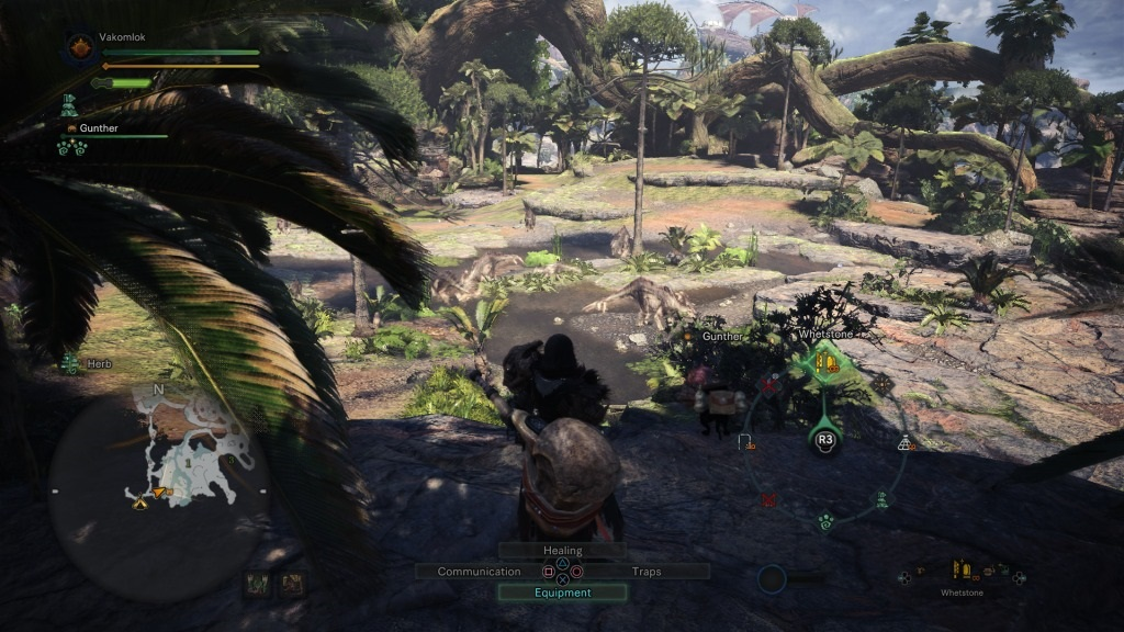 Monster Hunter: World; Gameplay: radial menu v praxi