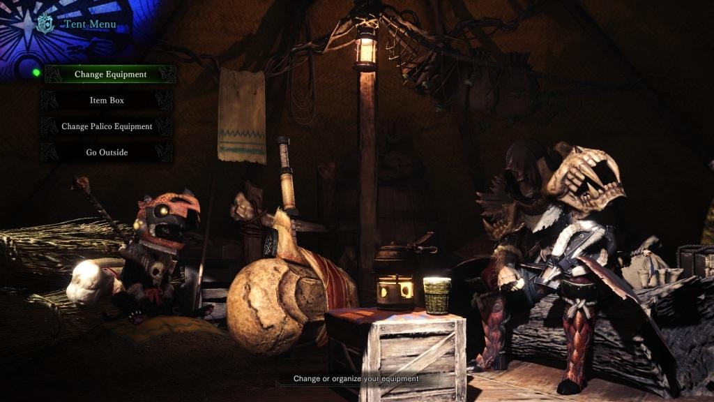 Monster Hunter: World; Gameplay: vybavení