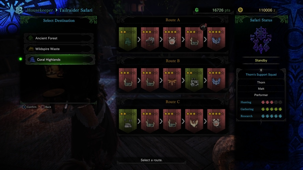 Monster Hunter: World; Gameplay: trailrider safari