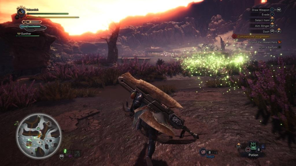 Monster Hunter: World; Gameplay: wildspire waste