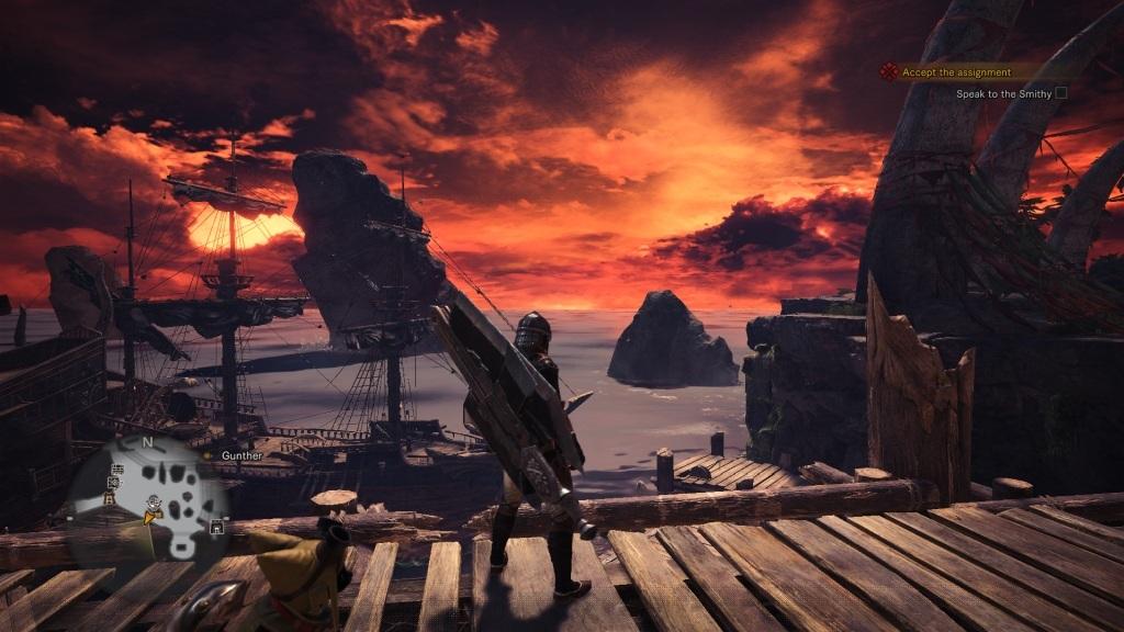 Monster Hunter: World; Gameplay: západ slunce, Astera