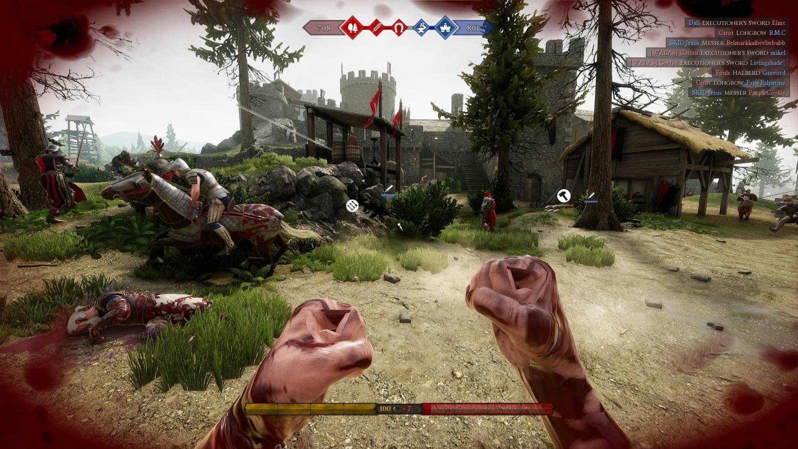 Mordhau; gameplay: pěsti