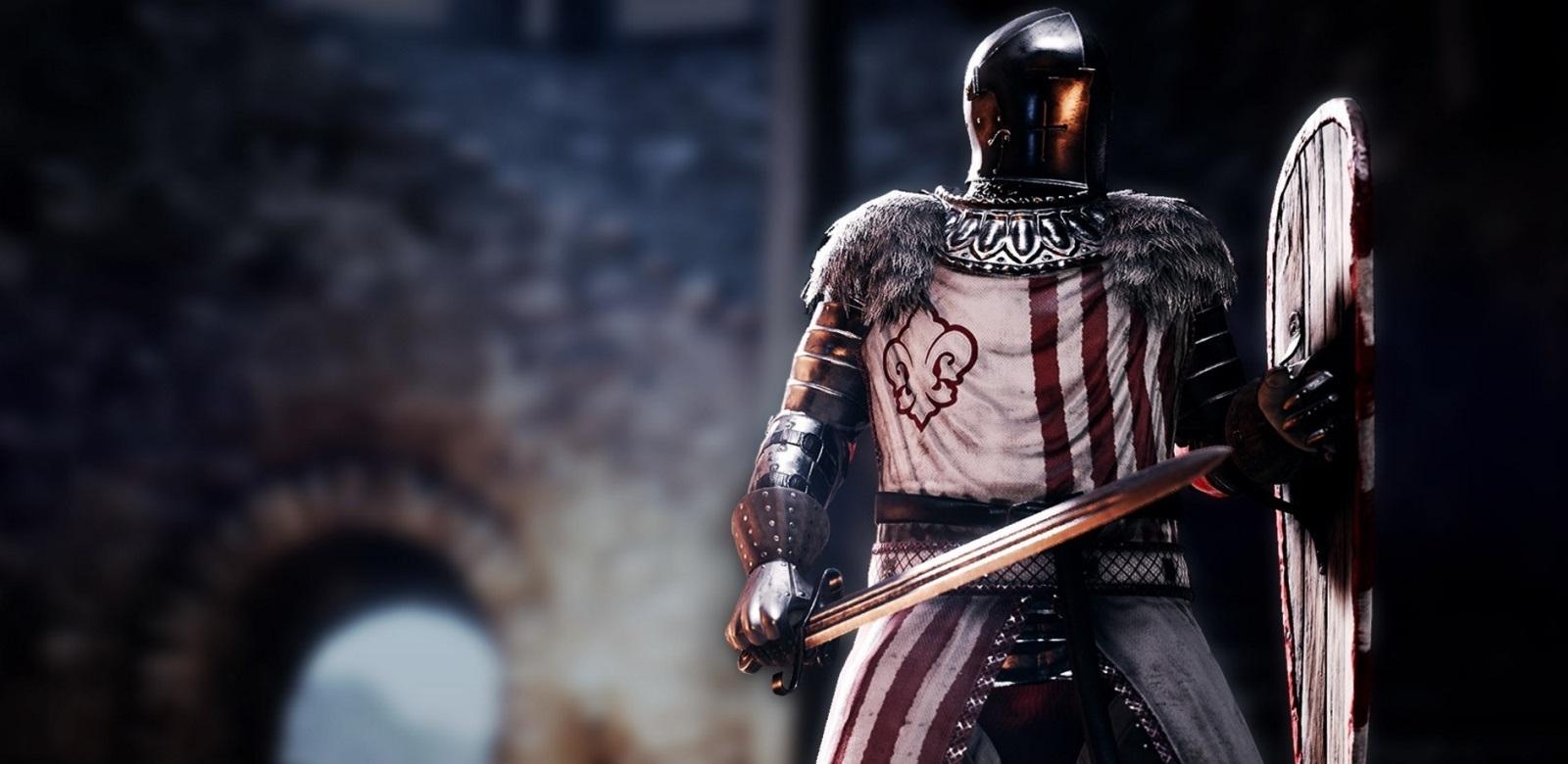 Mordhau; screenshot: rytíř, cover