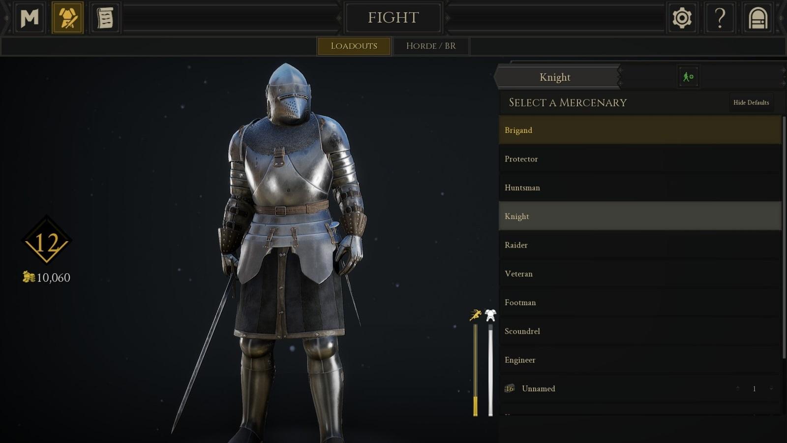 Mordhau; gameplay: rytíř