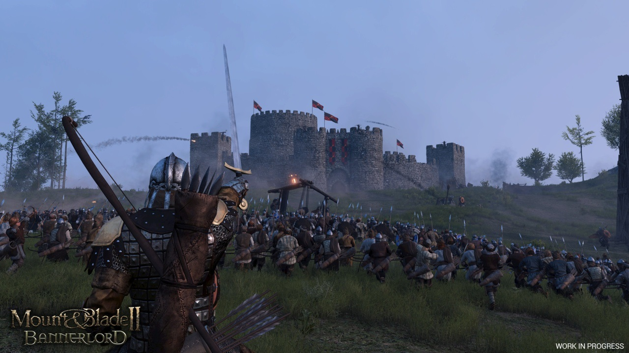 Mount and Blade2: Bannerlords; screenshot: bitva