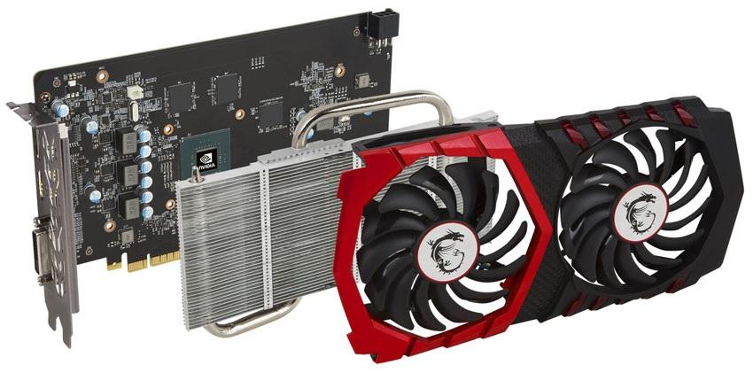 MSI GTX 1050 Gaming X 2G; systém chlazení