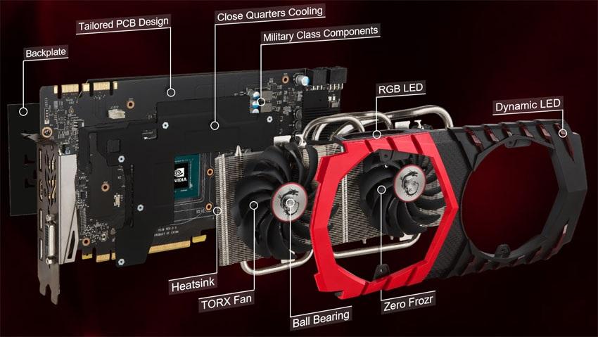 MSI GTX 1070 Ti Gaming 8G, systém chlazení
