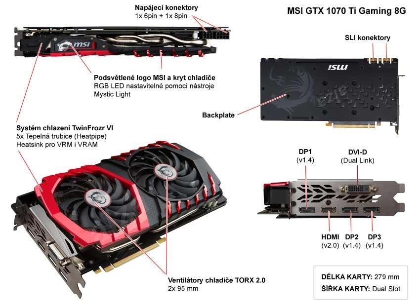 MSI GTX 1070 Ti Gaming 8G popis