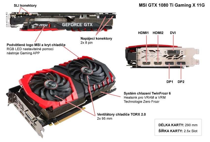 Msi GTX 1080 Ti Gaming X 11G popis