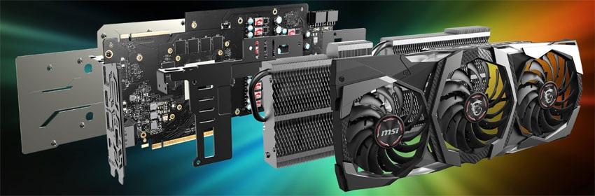 MSI RTX 2080 Ti Gaming X TRIO; systém chlazení