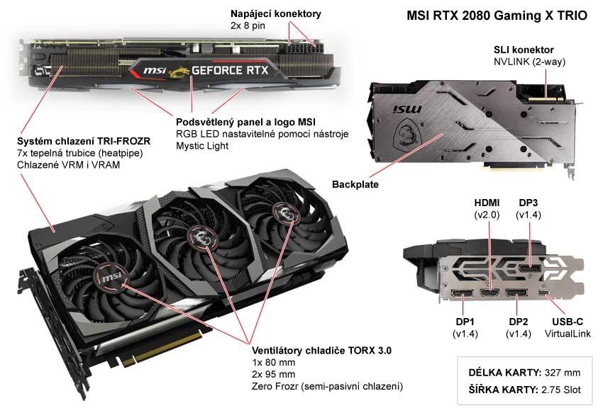MSI RTX 2080 Gaming X Trio; popis