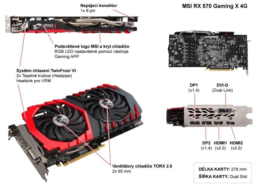 MSI RX 570 Gaming X 4G popis