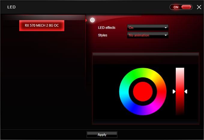 MSI RX 570 Mech 2 8G OC Gaimg APP RGB LED
