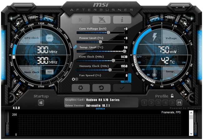 MSI RX 570 Mech 2 8G OC Afterburner