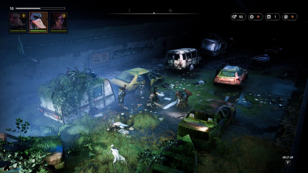 Mutant Year Zero: Road to Eden; screenshot: průzkum