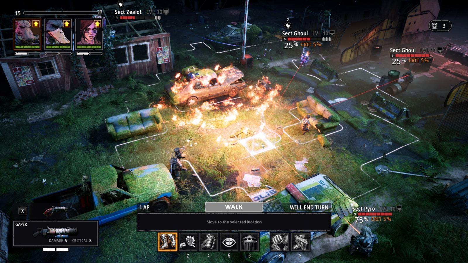 Nejočekávanější hry v prosinec 2018; Mutant Year Zero: Road to Eden, screenshot: bitva