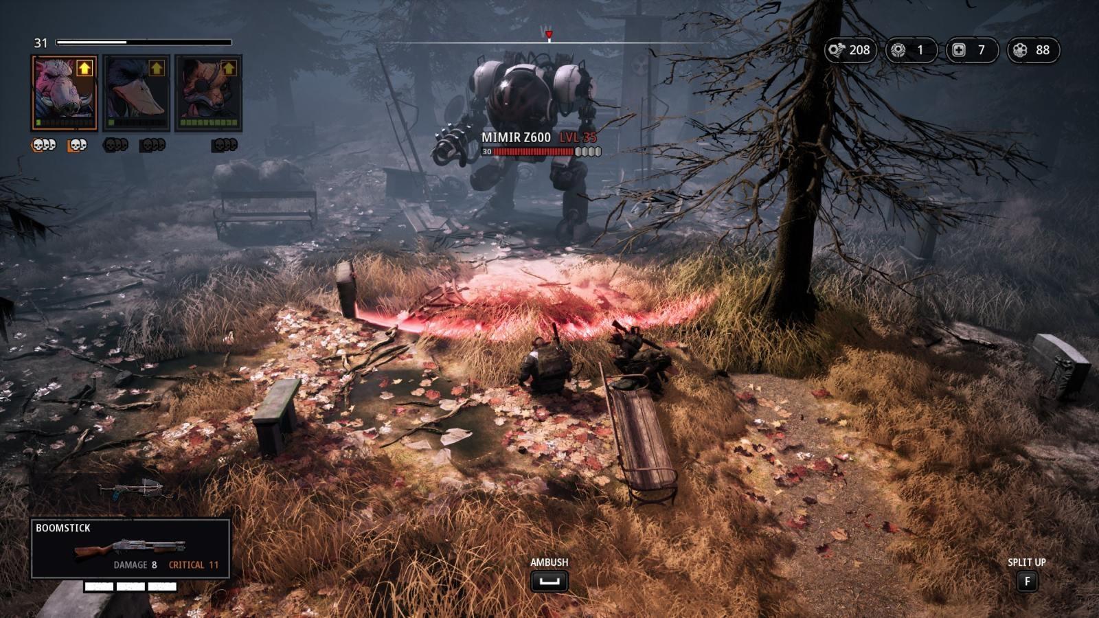 Mutant Year Zero: Road to Eden; gameplay: robot