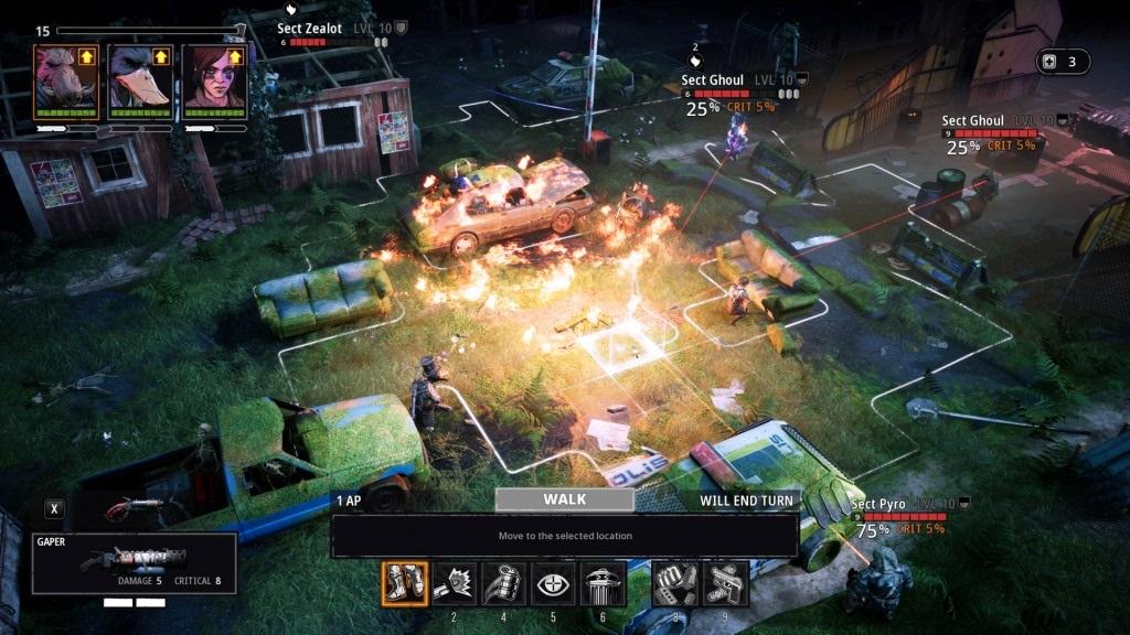 Mutant Year Zero: Road to Eden; screenshot: souboj