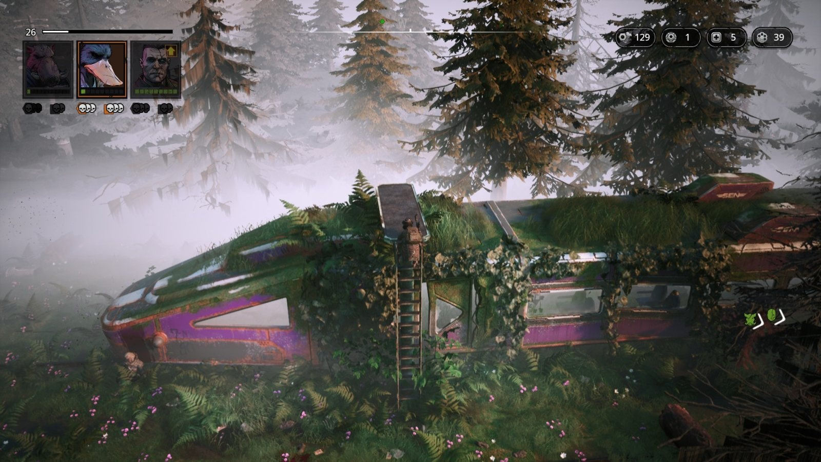 Mutant Year Zero: Road to Eden; gameplay: vlak