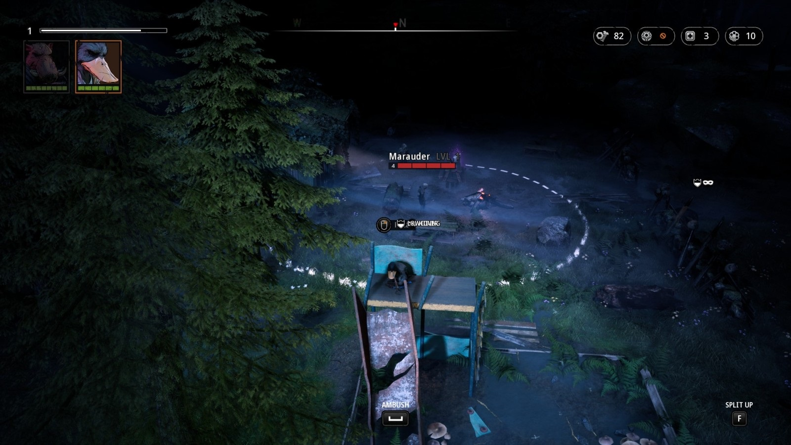 Mutant Year Zero: Road to Eden; gameplay: výhodná pozice
