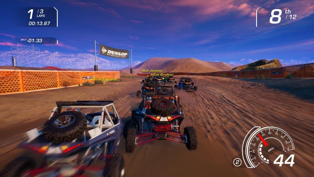 MX vs ATV: All Out; Gameplay: UTV