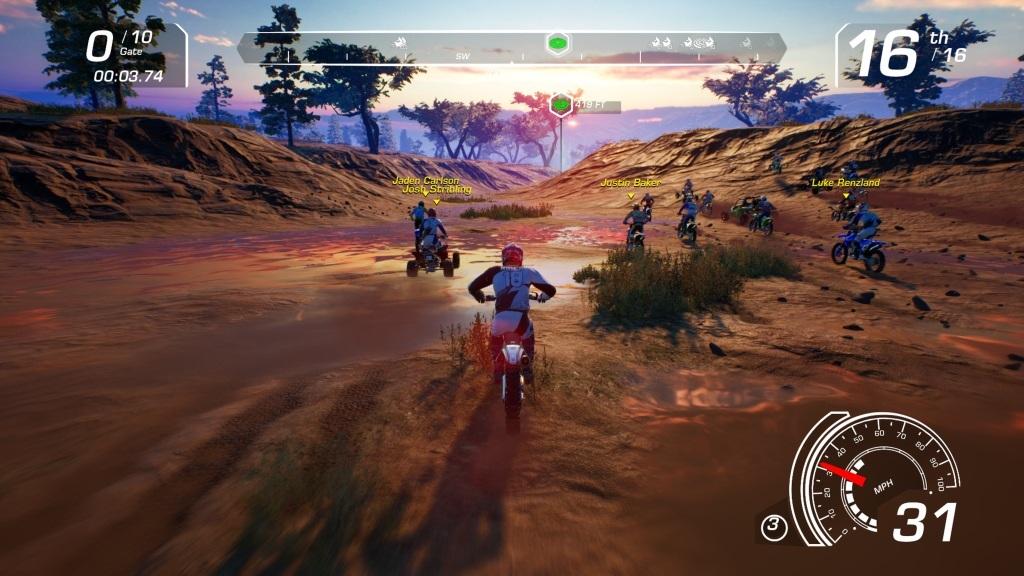 MX vs ATV: All Out; Gameplay: západ slunce