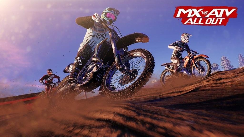 MX vs ATV: All Out; Wallpaper: závod, smyk