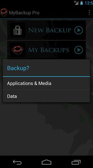 MaBackup - aplikace nebo data