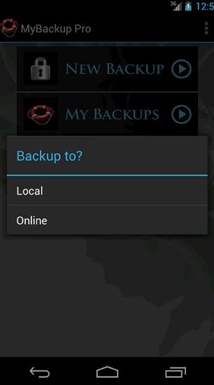 MyBackup - SD karta nebo on-line
