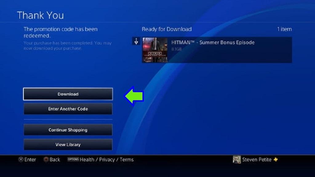 Návod na uplatnění elektronických licencí, PS Store