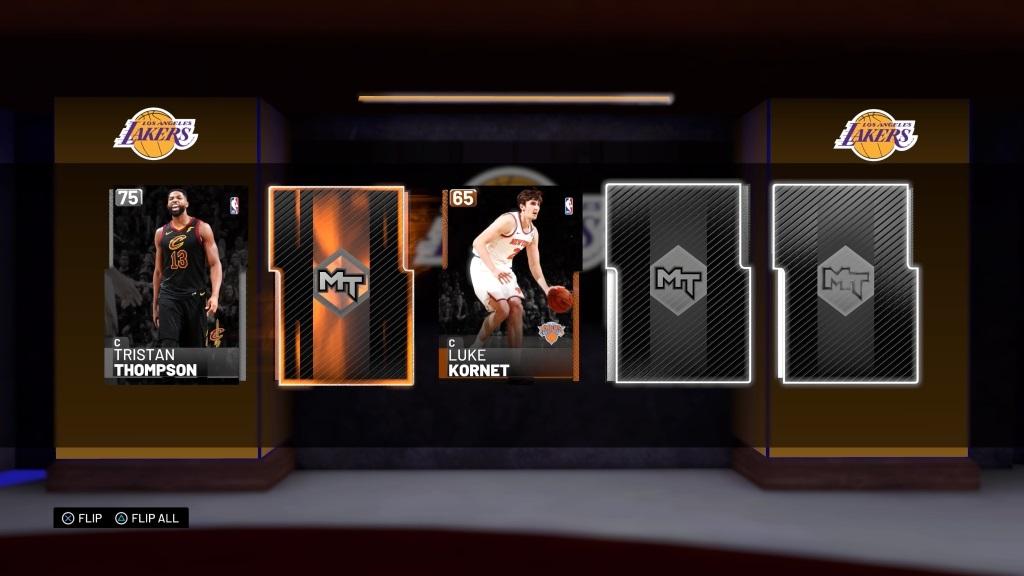 NBA 2K19; gameplay: balíčky