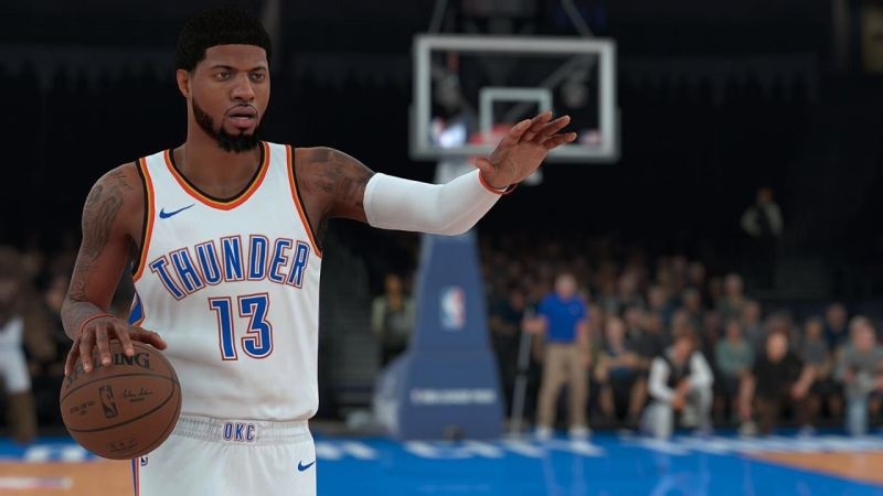 NBA 2K19; screenshot: hráč