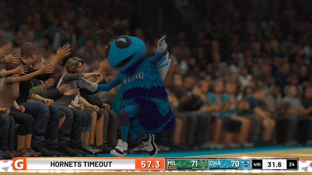 NBA 2K19; gameplay: maskot