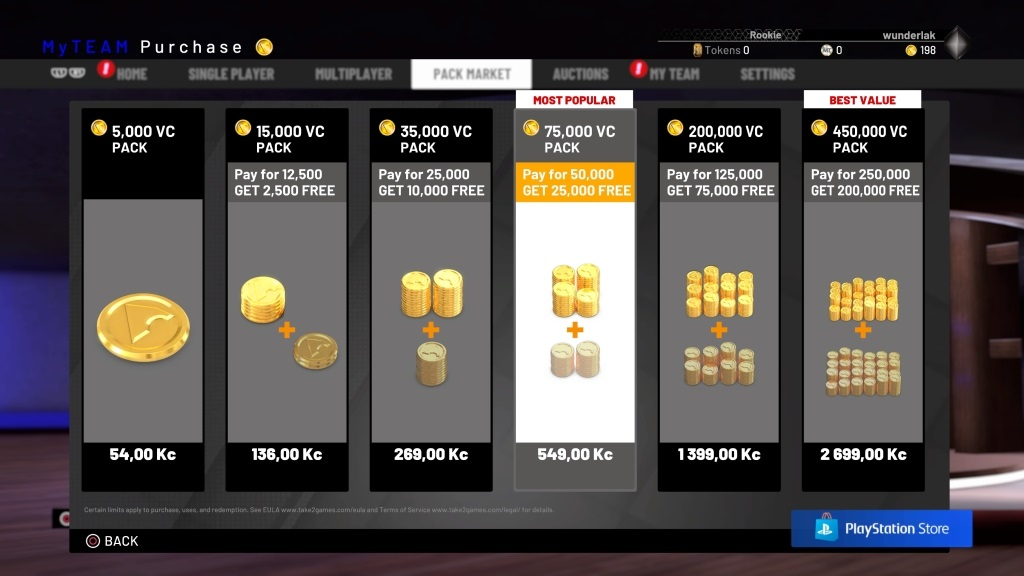 NBA 2K19; gameplay: mikrotransakce